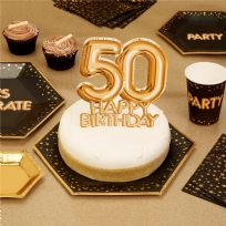 Glitz & Glamour Gold Cake Topper 50th